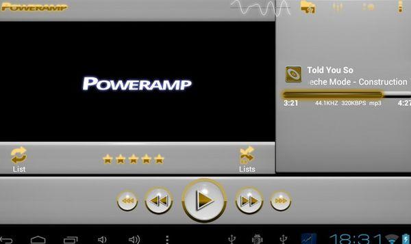 Мощный плеер для популярных треков Android 5.0