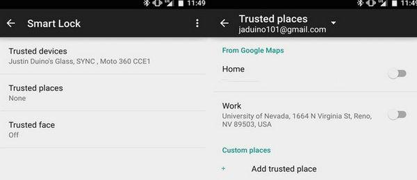 Доверенные места андроид