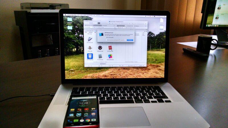 Передача файлов с Mac на Android через Commander One.
