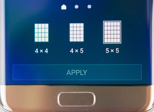 изменение размера сетки экрана