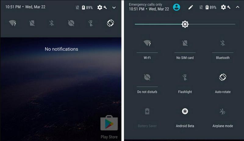 Панель управления android 8.0