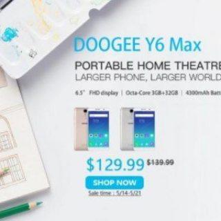 6,5-дюймовый Doogee Y6 Max доступен по цене $129.99