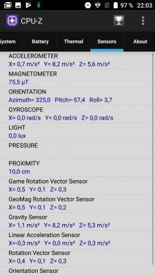 Все сенсоры UMIDIGI Z1 Pro