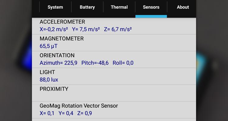 sensors bluboo s8