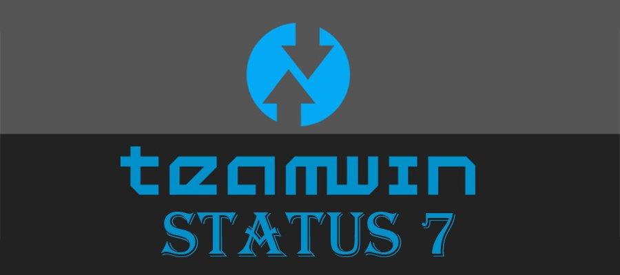 Ошибка Status 7 в TWRP – быстрое решение