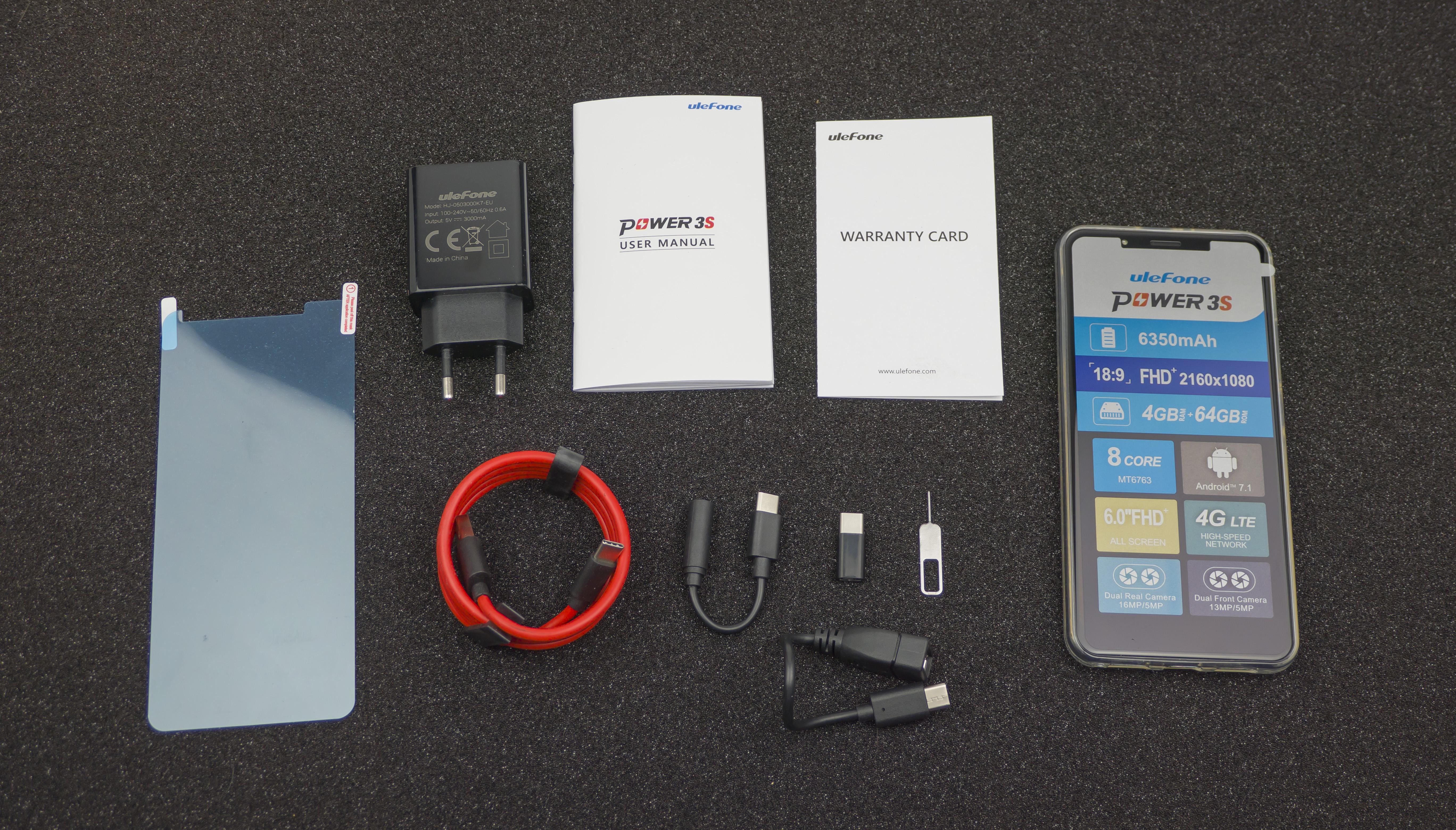 Комлектация Ulefone Power 3S