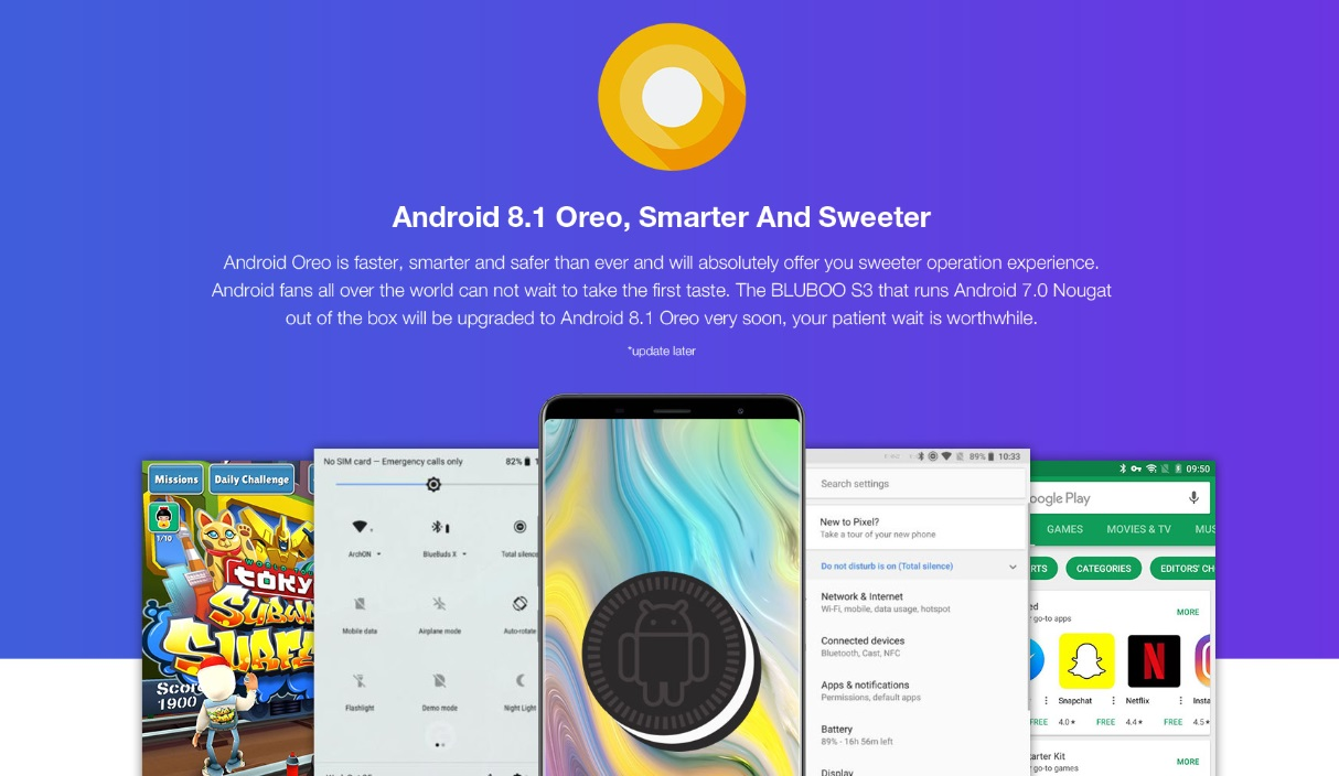 Android 8 bluboo s3
