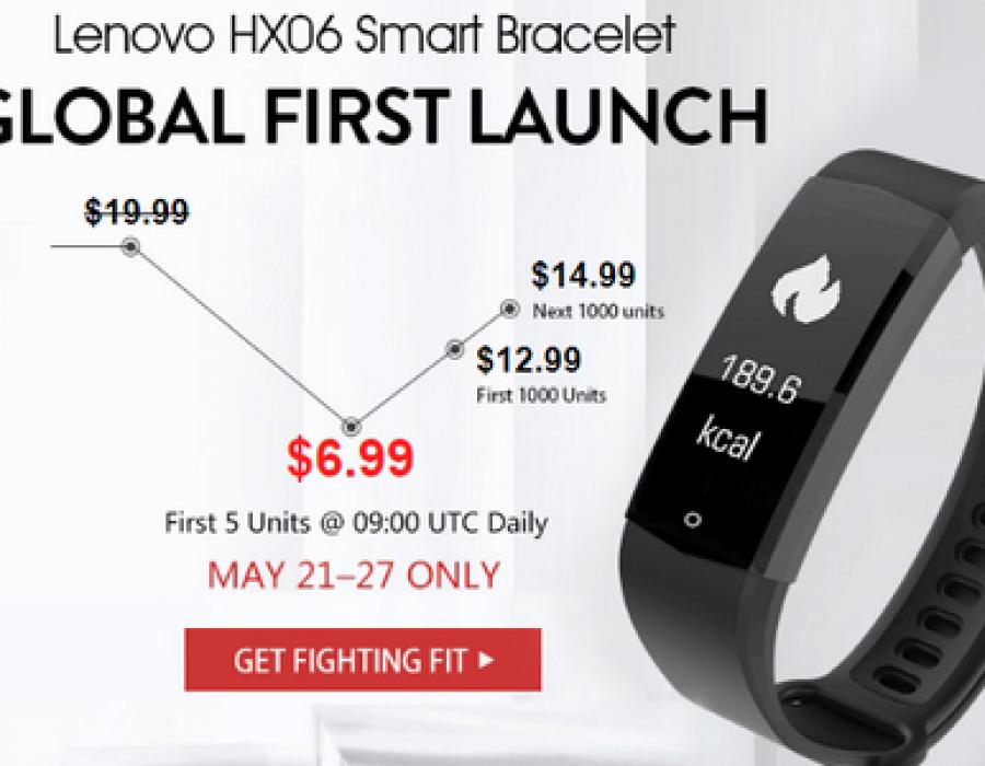 Уникальный фитнес трекер Lenovo HX06 всего за $6,99