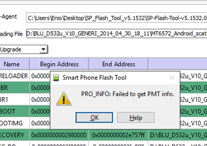 pro_info failed to get pmt info что делать