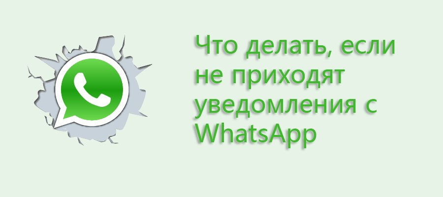 не приходят уведомления с whatsapp