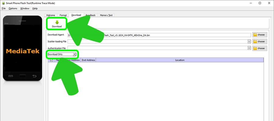 SP Flash Tool прошивка MediaTek устройств