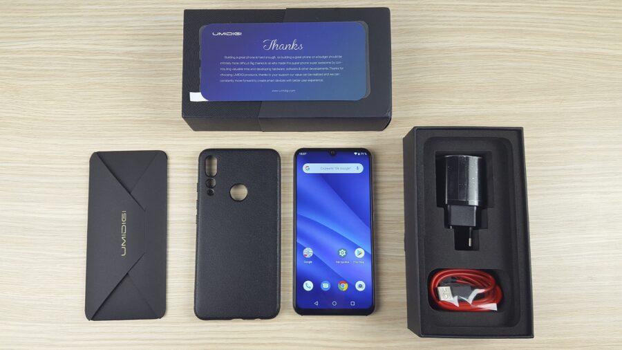 обзор UMIDIGI A5 Pro комплектация-min