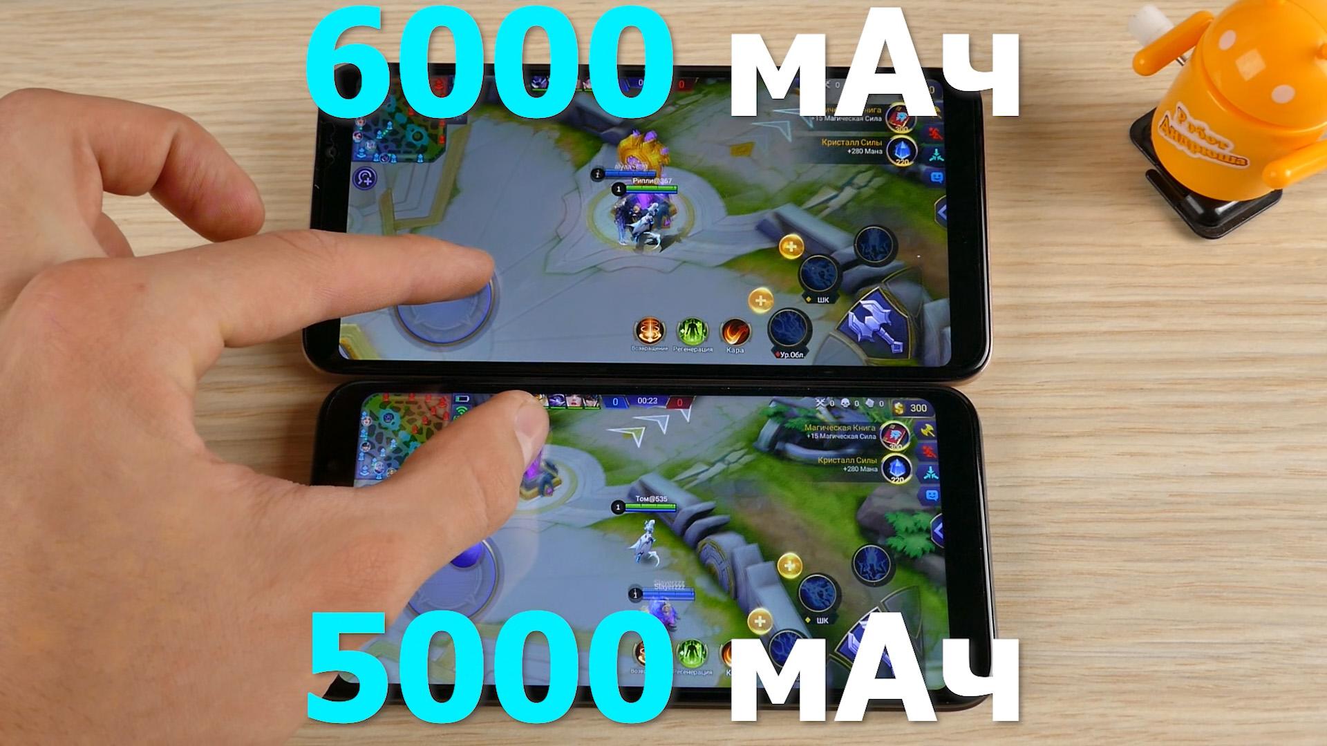 Сравненение BQ Strike Power Max 6035L и Plus 5535L автономность батарея ёмкость
