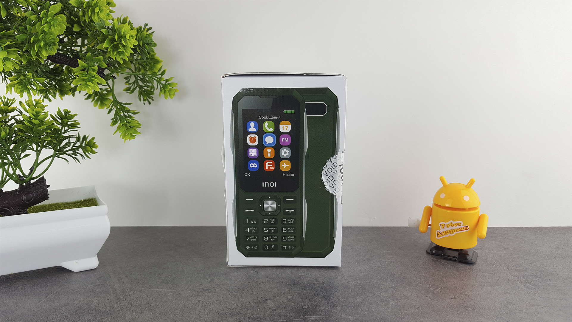 Обзор военного телефона INOI 244Z коробка