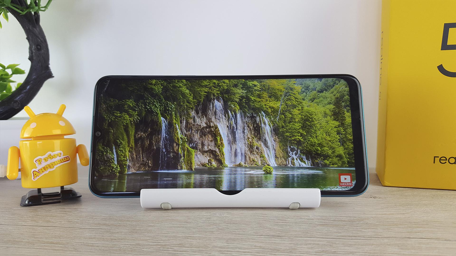 Обзор Realme 5i экран дисплей разрешение youtube