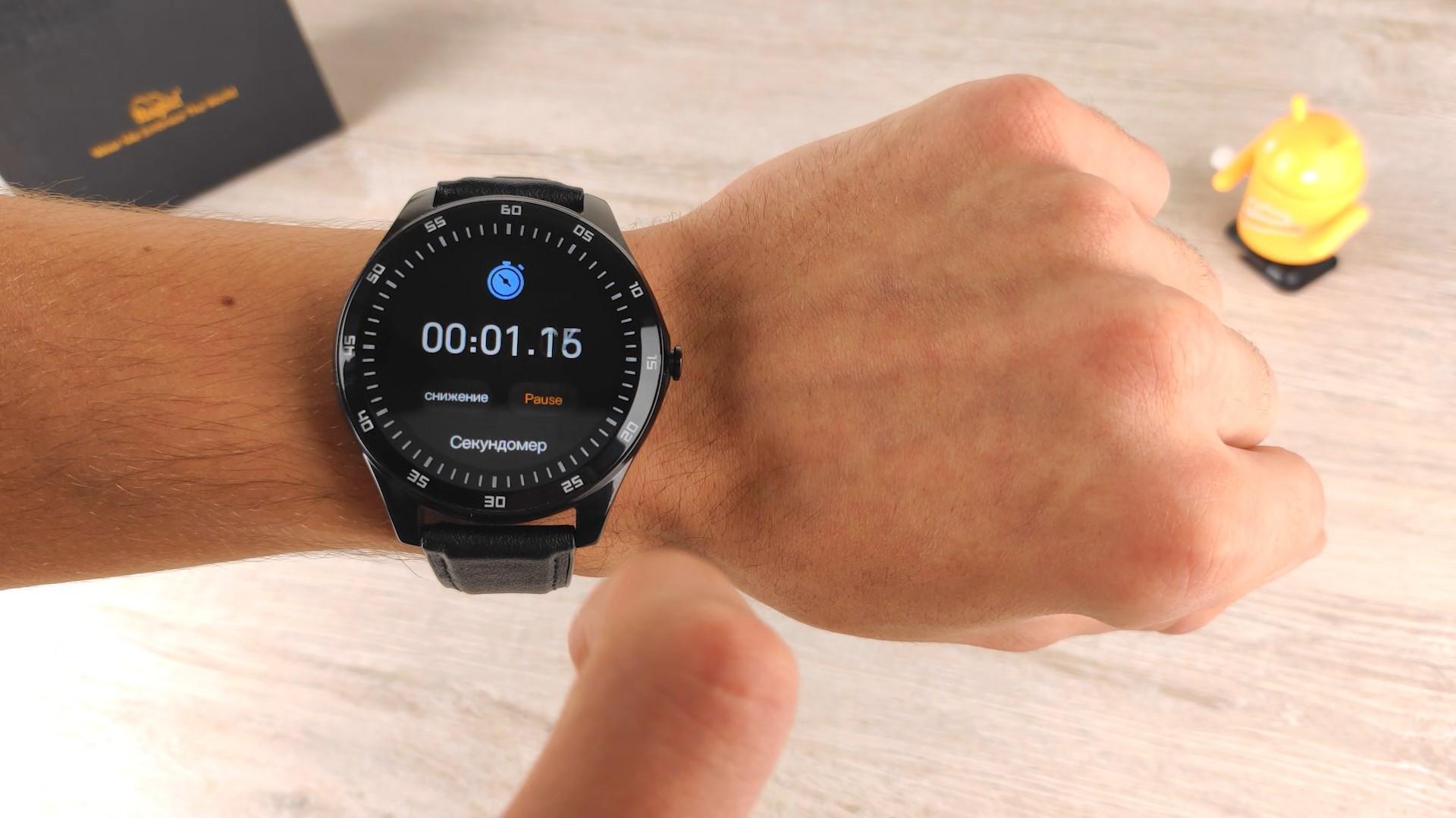секундомер на smart watch Rogbid GT