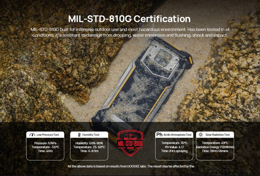 doogee s88 plus MIL-STD-810G