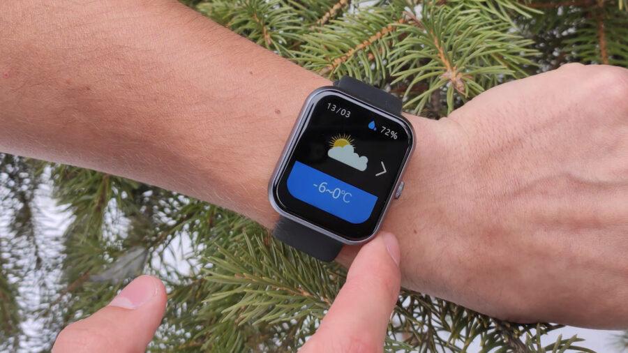 IdeaPro i8 смарт часы погода
