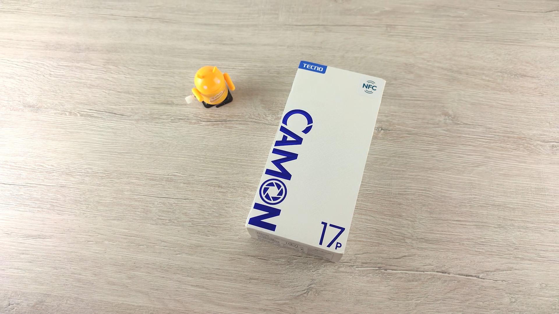 Обзор смартфона Tecno Camon 17P - коробка