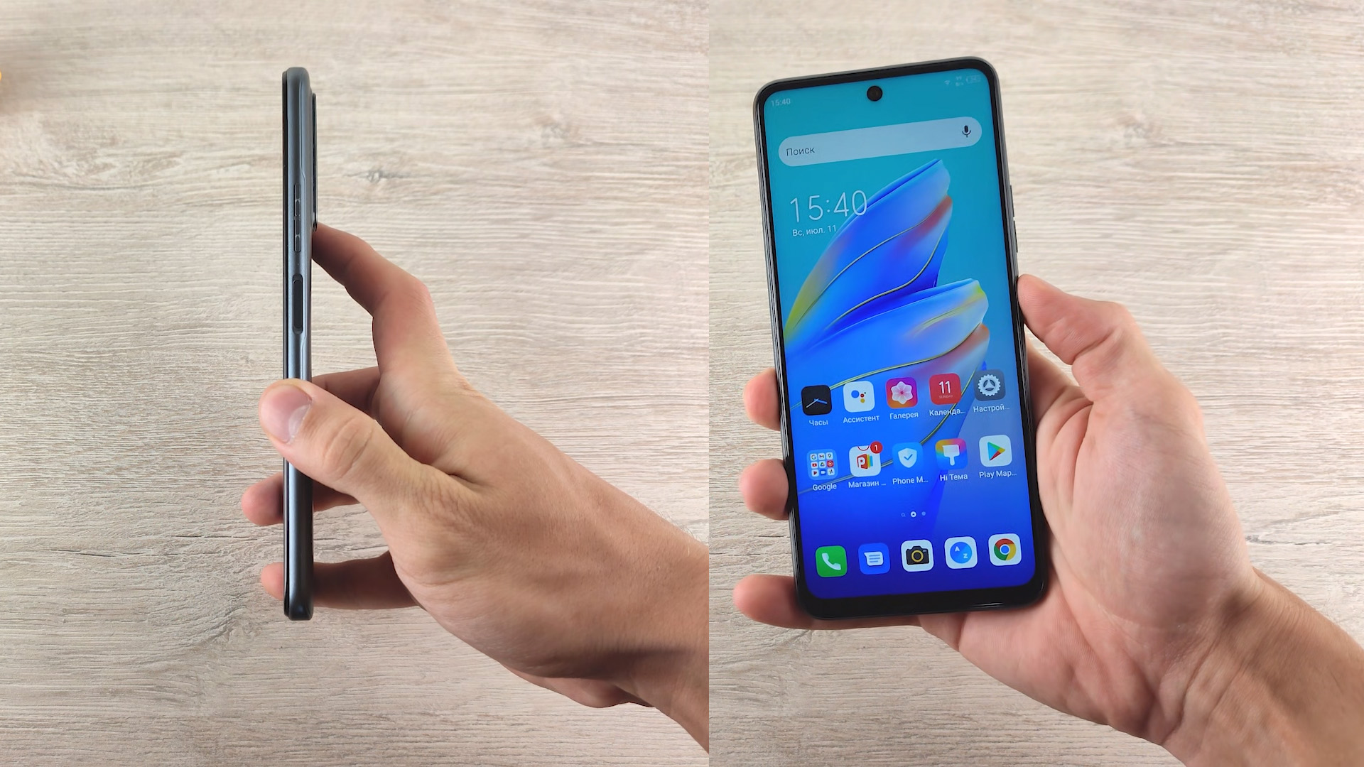 Обзор смартфона Tecno Camon 17P в руке
