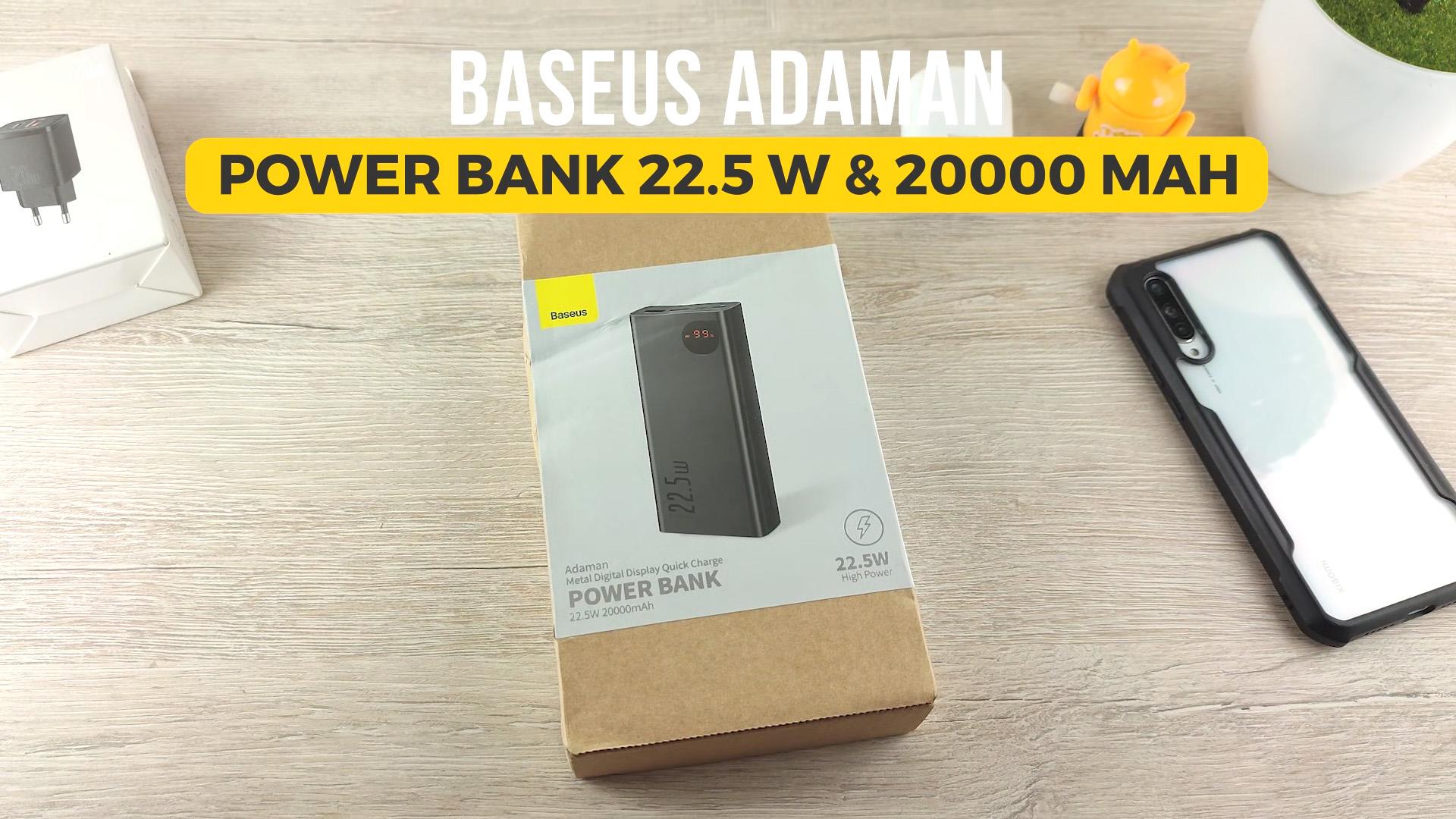 Обзор Baseus Power Bank Adaman 20000 мАч 22.5 Вт